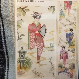 Cross stitch kit Geisha